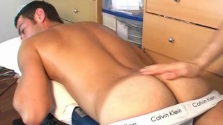 Ben, french air stew gets wanked his big cock in spite of him ! porno