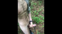 Straight Hairy Stud Orgasms In Forest