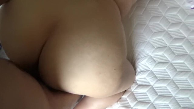 Fat ass girl gets fucked by her neighbor and he comes inside her.
