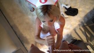 Swallow to your nurse jizz busty wants blonde big
