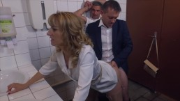 Dominant Milf fucks 2 men in a gas station - Bitches scene 2