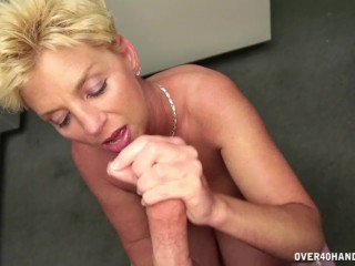 Straight Porm Fucking, Horny Step Mom Is More Than Happy To Offer Handjob Blonde Cumshot