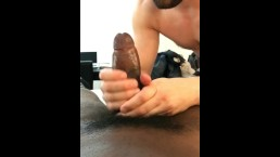 Griffin deepthroats and rides Eric's giant cock