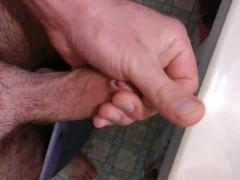 Stroking my big cock