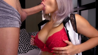 Teen Deepthroat Huge Cock and Facials