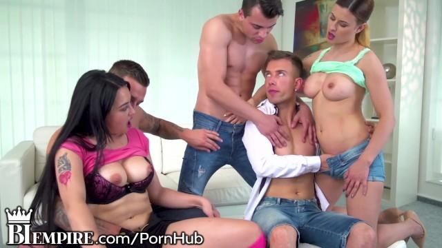 Naked free linda hamilton Biempire bi orgy leads to buttfucking fun