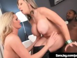 Award Winning Milf Sara Jay & Blonde Zoe Holiday Bang BBC!