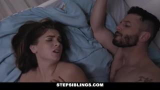 StepSiblings - Horny Stepsis Plowed by Stepbro in Bathroom Cowgirl facial