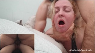Pretty Young Girl Has Her Pussy Fucked Full of Cum By Older Man