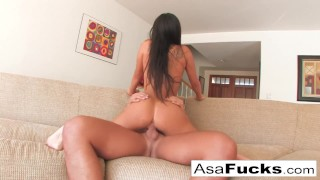 And asa gets hard a solid fuck brunette kissing