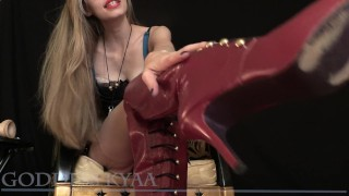 Cuckold Hubby - POV Femdom Humiliation Role Play Story  force bi femdom pov point of view goddess kyaa high heels lingerie cuckold humiliation femdom pov kink female domination dominatrox kyaaism kyaa dildo suck pov