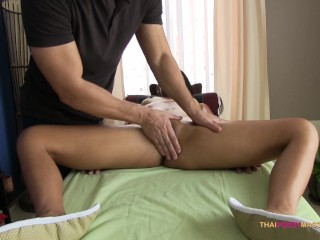 Preview 6 of Pinch her pussy mound during naked oil massage