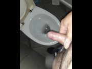 Pissing in public toalet