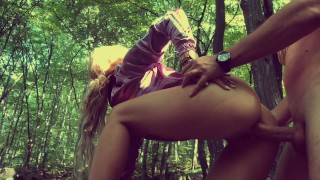 Outdoor ANAL in Forest with Deep Cum in Fit ASS Descriptive tight