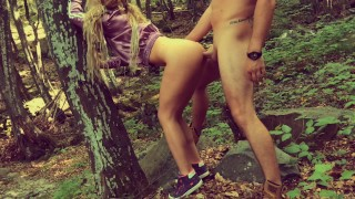 Outdoor ANAL in Forest with Deep Cum in Fit ASS Anal gfrevenge