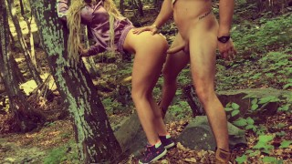 Outdoor ANAL in Forest with Deep Cum in Fit ASS Female adult