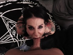 Joanna Angel groupie backstage POV blowjob