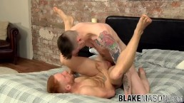 Redhaired stud ass hammered and squirted with jizz