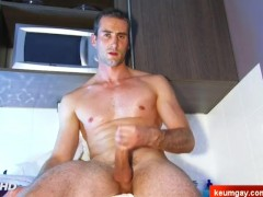 Full video : My str8 neighbour made a porn: his cock gets wanked by a guy!