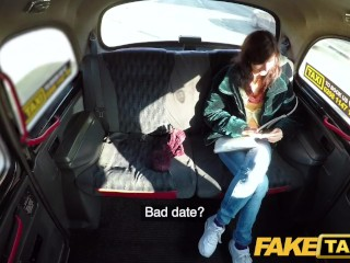 Preview 2 of Fake Taxi Lucky drivers cock fills sexy passengers tight pink pussy