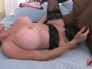 Svelte ebony girl boned hard in a doggy position