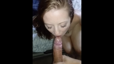 Oiled up booty and slowed down cumshot!