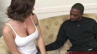 Amazon babe Kayla Quinn deepthroats big black dick then is fucked