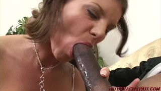 Amazon babe Kayla Quinn deepthroats big black dick then is fucked Blonde intense