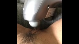 Vibrating clit until orgasm