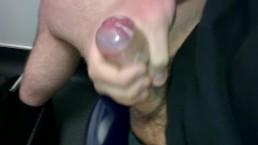 Quick Messy Cumshot in Shop Public Toilet
