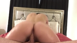 PAWG Stepsister uses Baby Oil on Me