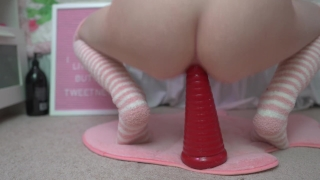 Small toy big riding teen anal anal teen