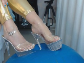 SEXY BRAZILIAN GIRL FAKE cum on Feet PODOLATRIA
