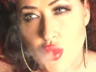 busty redhead smoking v120s julie simone smoking fetish video