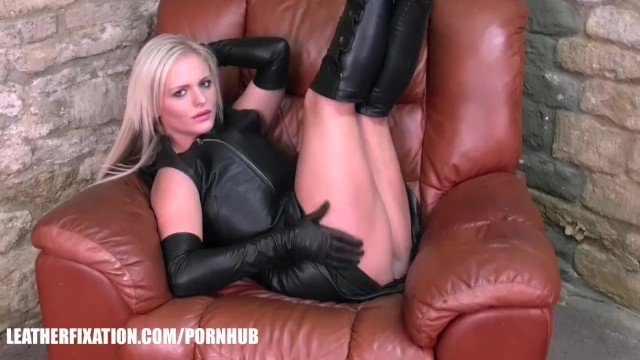 Boobs origin of fixation - Kinky babes explore feeling of leather on big natural boobs and hot bodies