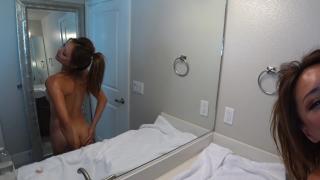 Ayumi Oil Covered Riding  toys fuck ride oil babe asian masturbate hot bathroom