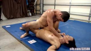 sex fight wrestling  kink dark haired pinned small boobs mixed wrestling sex fight prone bone choke bj oral cocksucking jerking
