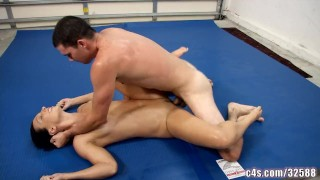 Wrestling fight sex mixed sex