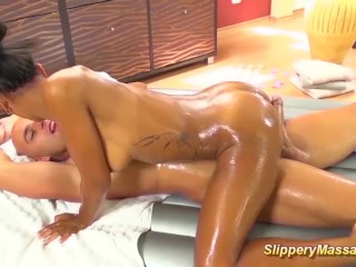 her first big cock slippery massage