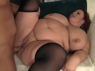 Porn for a job milf plumper lady lynn fucks the handyman pure bbw chubby butt big boob