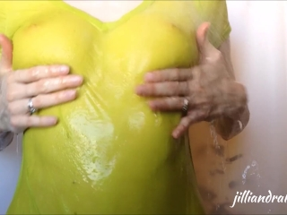 Compilation Wet Rubbing video: Rubbing Lotion on Boobs and Wet T-shirt Compilation