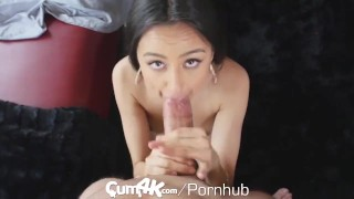 CUM4K Latina pussy drenched in oozing cum - multiple creampies Big boobs