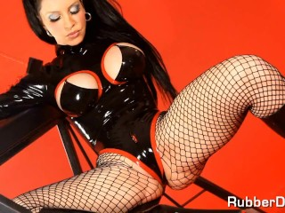 pure classic fetish dream with mega horny rubber doll