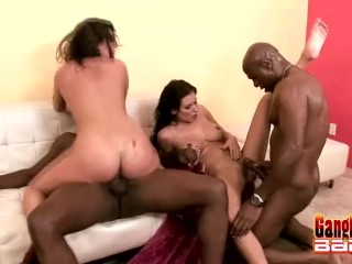 Interracial fun with white bbw milf
