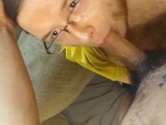 Sucking Colombian Dick with a Throat Load
