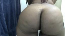Smoking Ebony BBW Sticky Syrup Shower Big Nipples Fat Ass Clap Cami Creams