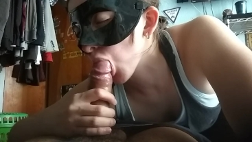 Amazing blowjob with cum explosion