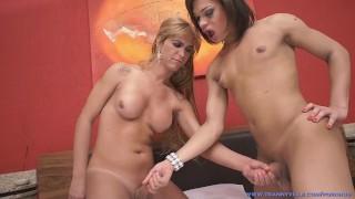 Sexy Trans FUCKING!! Hot Body TS Andressa Olivetto Fucks TS Alexia Firenze