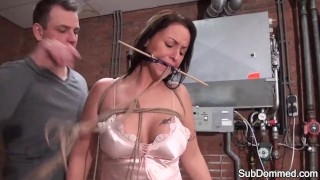Gagged milf humiliated by euro maledom British creampie