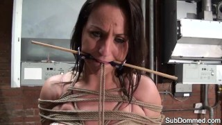 Maledom gagged milf by humiliated euro subdommed maledom